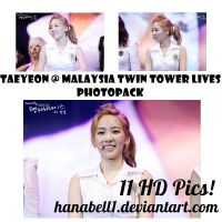Photopack#17 Taeyeon @ Malaysia Twin Tower Lives by HanaBell1