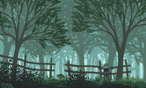 enigmatic forest by Utvele
