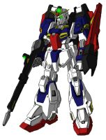 MSZ-006/X1 Zeta Gundam Unit 1 MS mode by unoservix