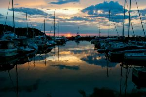 Sister Bay Sunset by NorthOne