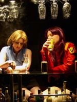 Misato and Ritsuko at the bar by TheJoy-MGS