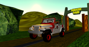 Jurassic Park Gas Powered Staff Jeep + DL by Valforwing