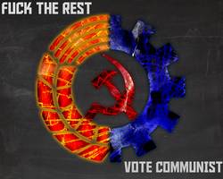 Fuck The Rest Vote Communist by Domain-of-the-Public