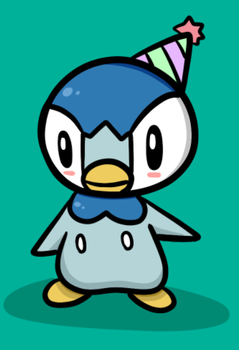 Party Piplup by Psi-Froddie