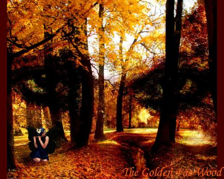Golden Fae Wood Wall by Lissa-loo