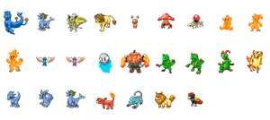 Assorted Fakemon Sprites by Iakop