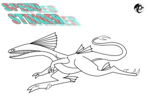Speed Stinger Outline and Character Template by dragonhalf13570