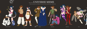 Universe meme with Stardust and Allan by GreenOverGreen