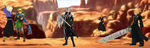 The Guardian Swordsmen vs Sephiroth by WOLFBLADE111