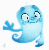 Daily Paint 655. Caspar Quickie by Cryptid-Creations