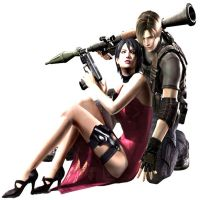 Ada wong- with leon by Burningxdrake