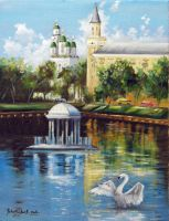 Swan's Lake. Astrakhan. by chebot