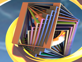 Rotating cube by surrealista1