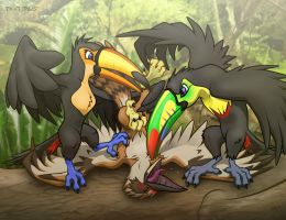 Toucan Play at This Game. by Foot-paws