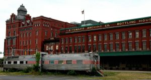 Old Brewing House and Abandoned Train Diner by jnicolini12