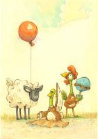 Balloon2 by jamesillustrated