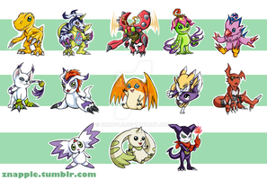 Digimon Keychains by Znapple