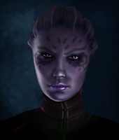 Mass Effect Shiala by Sylianna84 by FREEDUNHILL