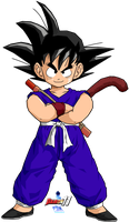 Kid Goku (First Suit) by Dairon11