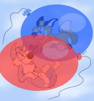 Paws n' Balloons - by MusicOfLuie by RupertBlueFox