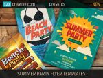 Summer party flyer templates by 123creative