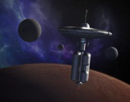 Laurlin Station - Painting in Picard's Quarters by VSFX