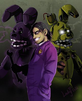 FNAF - purple man by LadyFiszi