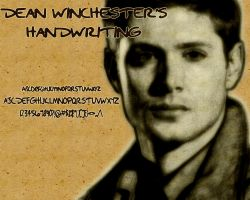 Dean Winchester's Handwriting by TheGeminiSage