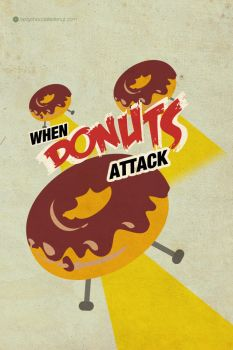when donuts attack iphone 4 wp by tastychocolatedonut