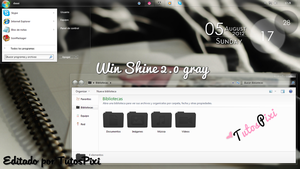 Theme win 7 Shine 2.0 Gray by TutosPixi
