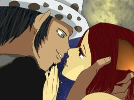 Trafalgar Law and Kitty Kiss by JennyMeiou