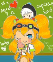 If a nerd and a cupcake..... by Tamochi-Chan