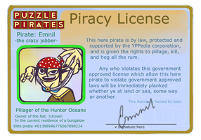Puzzle Pirates License by pinappleapple