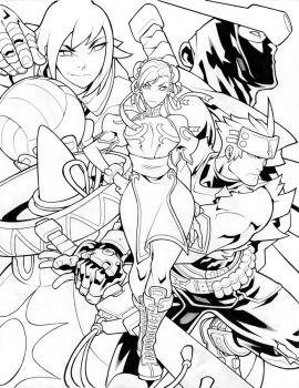 Capcom Fighting Tribute Inks by edwinhuang