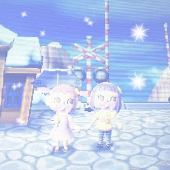Just a cute day in acnl... with my hime x3 by Hatoka