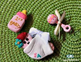 DIY Baby Shower Magnets by SugiAi