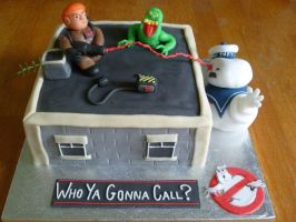 Ghostbusters Cake by Rebeckington