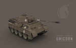 Unicorn: Captured German Panther D by cr8g