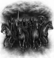 Four Horsemen of the Apocolyps by Sheblackdragon