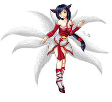 Ahri by Hamsel