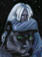 Drizzt and his friend by batchix