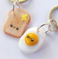 Eggs and Toast Best Friends by pitterpatterpolymer
