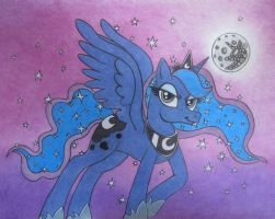 Princess Luna, Mare of the Moon by spectrum-sparkle