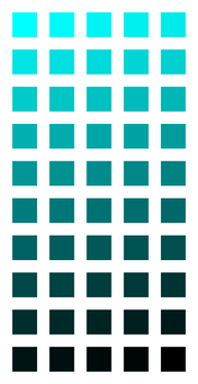 COLORS 06.1: From cyan to black by victorioanthony