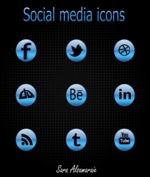 Blue icons by rosesfairy