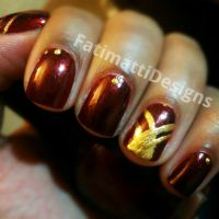 Red and Gold by FatimattiDesigns