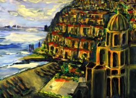 Moonlight Over Positano by RandySprout