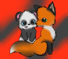 The Fox and the Panda. by Intruhcate