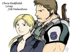 Chris love Jill by redfield37