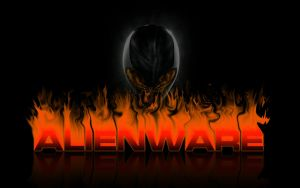 Alienware Orange Fire by darkangelkrys